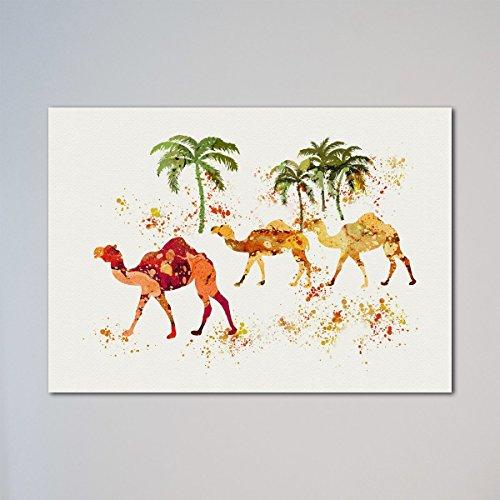 (Camels Walking In The Desert Print)