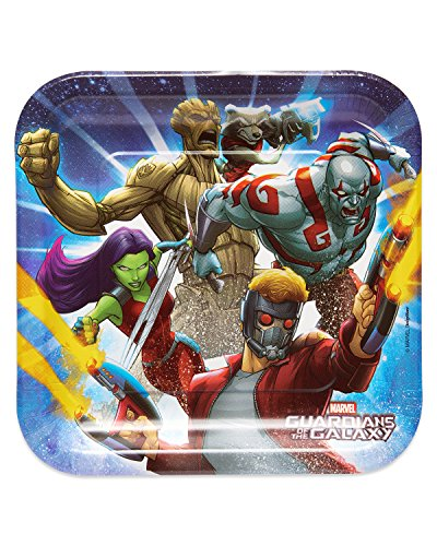 - American Greetings Guardians of the Galaxy Dinner Square Plate (8 Count
