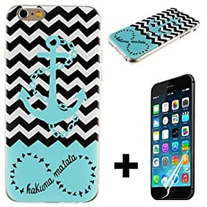 YULIN iPhone 6 Plus compatible Stripes/Ripples Back Cover