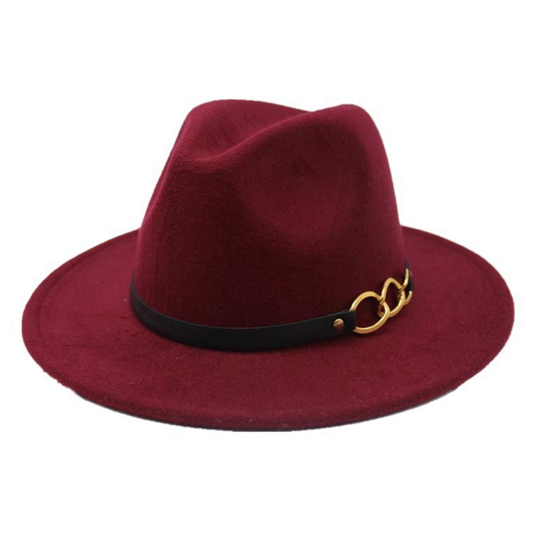 Fedora Hats Classic Vintage Wool Felt Hat Winter Vintage Wide Brim Jazz Cap Bowler Hats for Men Women