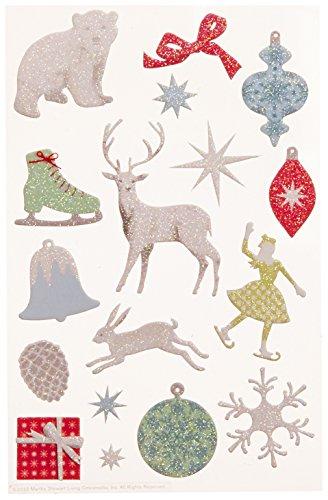 Martha Stewart Crafts Frosty Elegance Glittered Icon Stickers