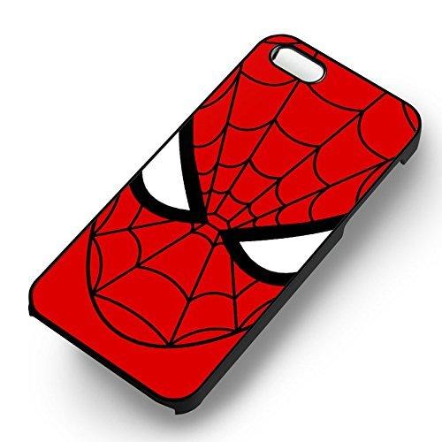Spider Man Face pour Coque Iphone 6 et Coque Iphone 6s Case (Noir Boîtier en plastique dur) Y8K7RR