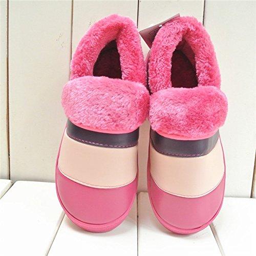 pantofole uomini rosso anti con cotone 41 40 in pantofole pacchetto cotone donne inverno caldo slittamento Fankou inverno e soggiorno coppie indoor YSRPP6