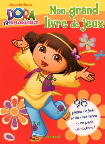 Mon Grand Livre De Jeux ; Dora L'exploratrice ; Visuel Rouge