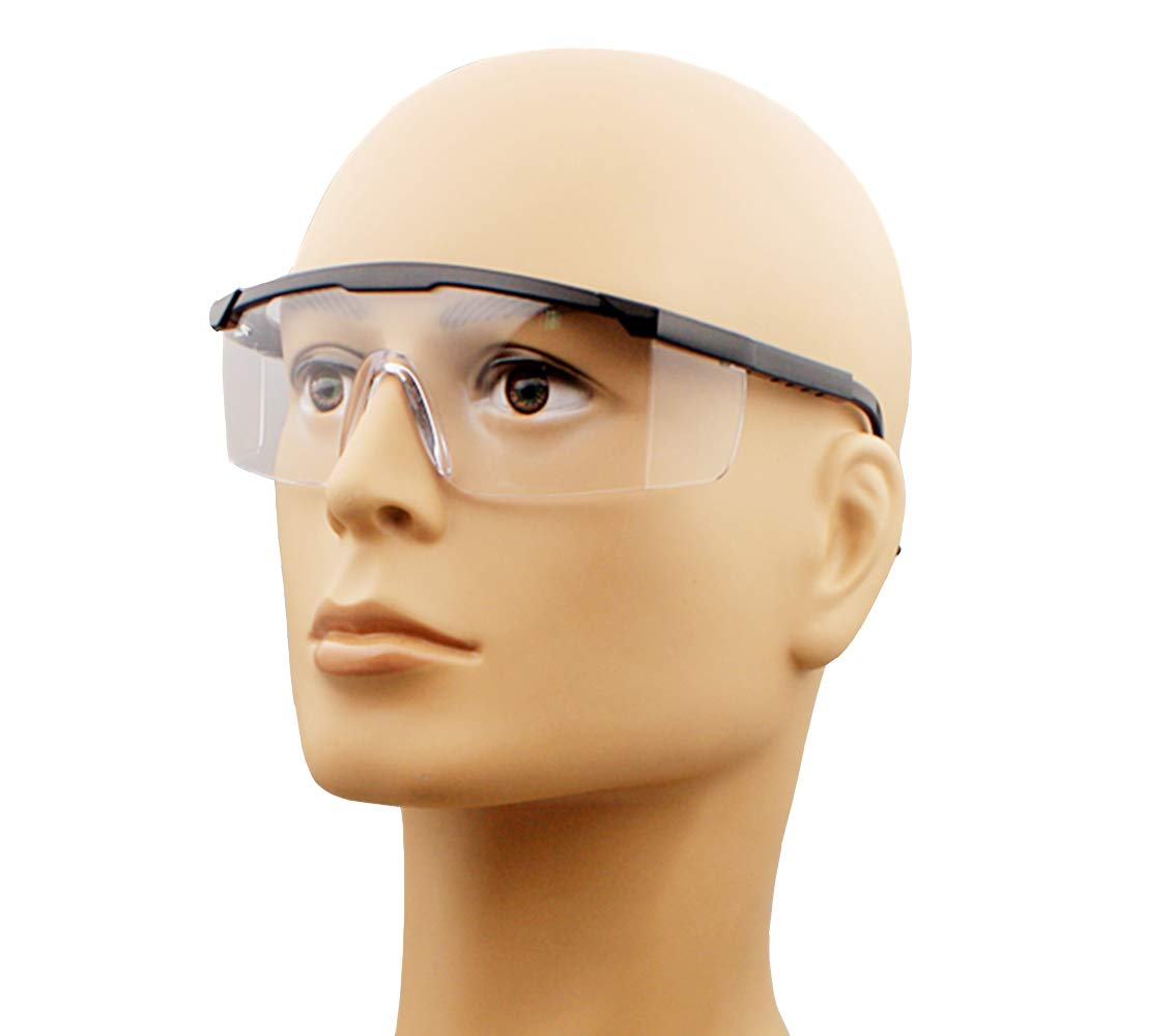 INNX Safety Glasses Work Glasses-OP102000 Popular Design for Kids, Men, Women, Lab with Clear Anti Scratch Wrap-Around Lenses 2 Safety Glasses