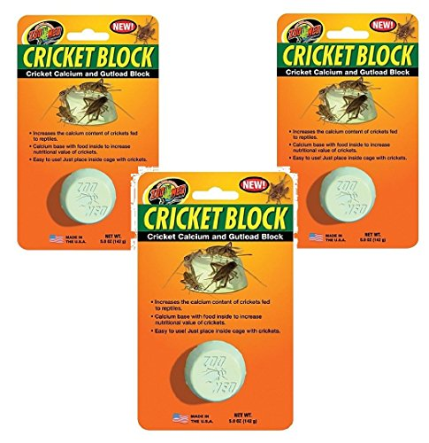 (3 Pack) Zoo Med Cricket Block Cricket Calcium and Gutload -