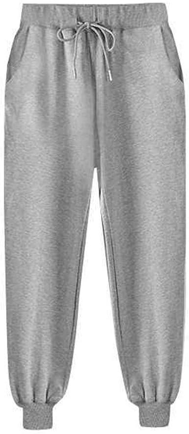 Risthy Harem Pantalones Mujer Sueltos Tallas Grandes Pantalones Deportivos Color Solido Cintura Elastica Damas Pantalon Correr Algodon Suelto Mujer Casual Invierno Amazon Es Ropa Y Accesorios