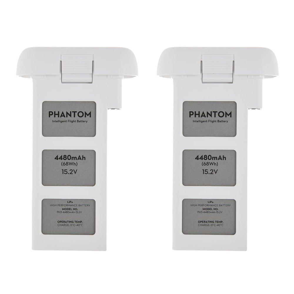DJI Phantom 3 Quadcopter Drone 4480mah Intelligent Flight Battery 2-Pack Bundle by DJI