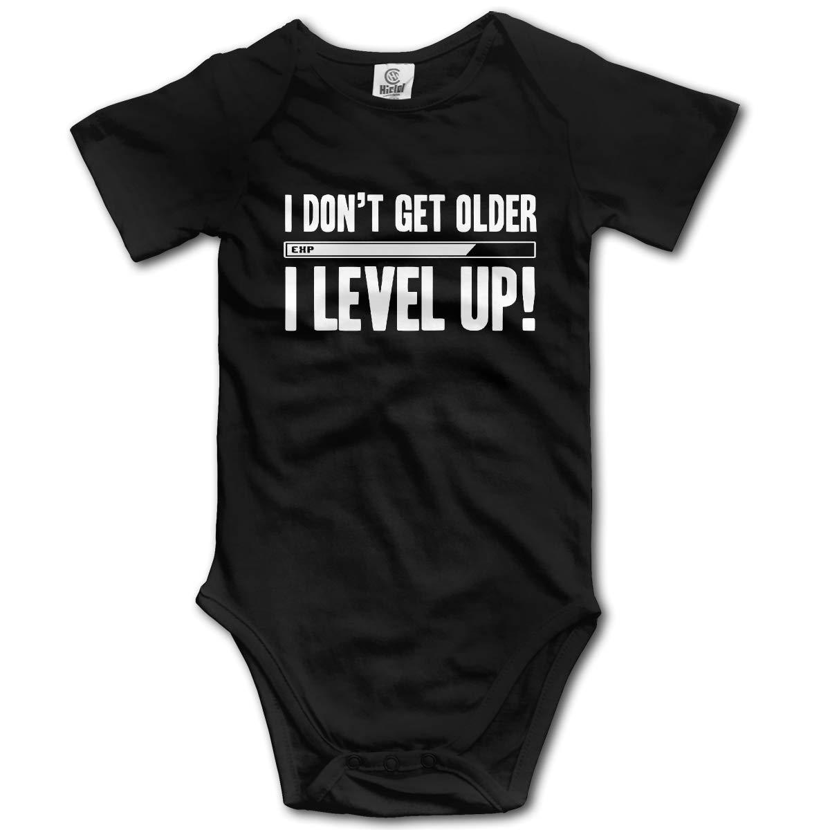 I Dont Get Older I Level Up Infant Baby Romper Summer Short Sleeve Jumpsuit Novelty Funny Gift