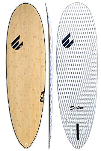 ECS Boards - Drifter V-Flex Short Surfboard - Shortboard Surfing Board for Longboarders - 6'2 (Best Beginner Surfboard For Big Guys)