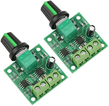 2 RioRand RR-PWM-15V Low Voltage Dc 1.8v 3v 5v 6v 12v 2A Motor Speed Controller