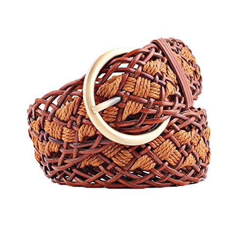 Song Braided Belt Ladies Belt Stylishly Decorated Wide (Ladies Braided Belt)