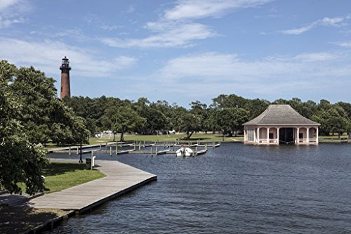 Photograph | Pond with a distant view of the Currituck Beach Light, a lighthouse in Corolla, a community in North Carolina's Outer Banks| Fine Art Photo Reporduction 66in x 44in