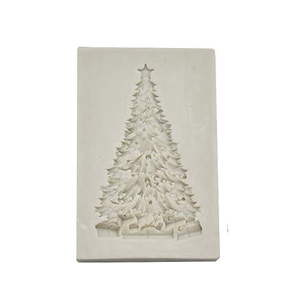 iTemer Creativo Rectangular Árbol de Navidad Pastel de Encaje Molde Fondant Molde DIY Hornear Herramientas Molde