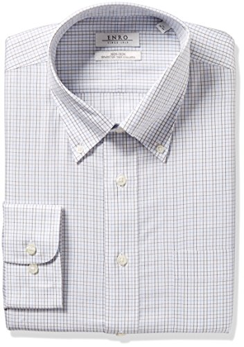 Enro Men's Classic Fit Tattersal Check Dress Shirt, Multi, 18.5