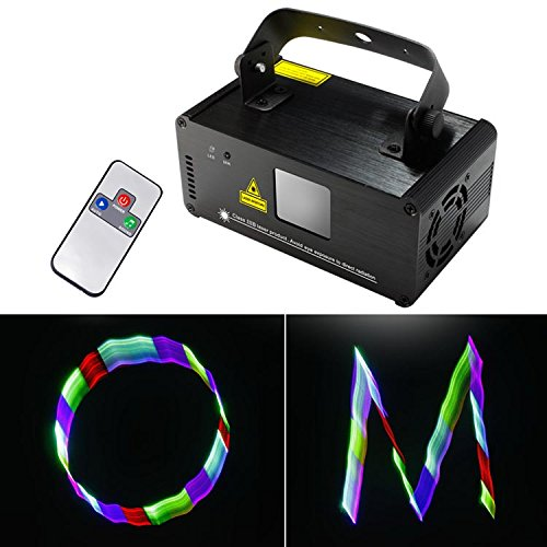 Sumger Professional DMX 3D Effect RGB Laser Show Lighting TDM-RGB400 Scanner Party Light LED Projector Fantastic Full Color Xmas with Remote for Festival Bar Club Party Wedding by Sumger