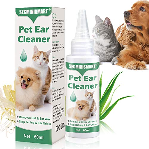 SEGMINISMART Dog Ear Cleaner,Ear Cleaner for Dogs Wash,Stop Itching, Head Shaking & Smell,Ear Drops for Dogs&Cats,Dog…