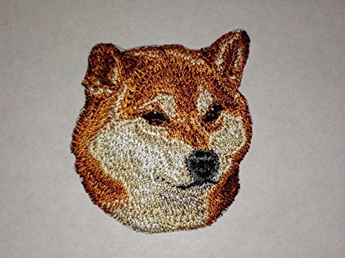 Embroidered patch- Patches for Women Man- Cool patches-Shiba Inu Canine Dog Breed Portrait Embroidery Patch