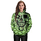 Unique Halloween,Gillberry Women Casual Hoodies Print Pullover Skull Hoodie Sweatshirt Pullover Tops