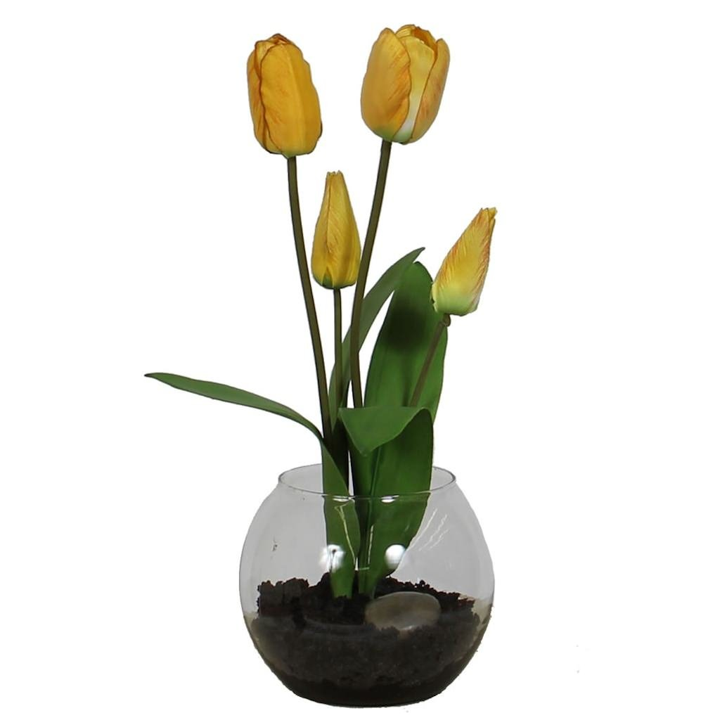 Vickerman F12158 Everyday Tulip Floral, Yellow
