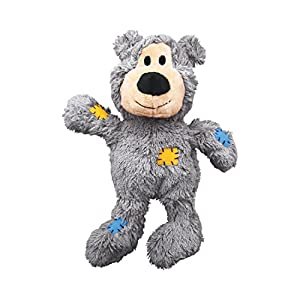 KONG – Wild Knots Bear – Internal Knotted Ropes and Minimal Stuffing for Less Mess (Assorted Colours) – for Medium/Large… Click on image for further info.