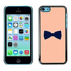 TopCaseStore / la caja del caucho duro de la cubierta de protección de la piel - Black Gentleman Design - Apple iPhone 5C