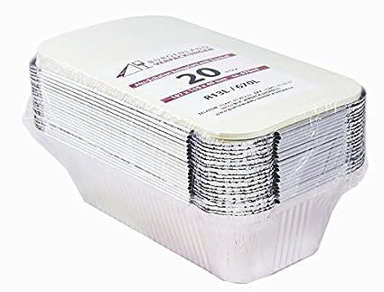 20 bandejas con tapa • r13l • de aluminio Bol • pequeño • ungeteilt • de