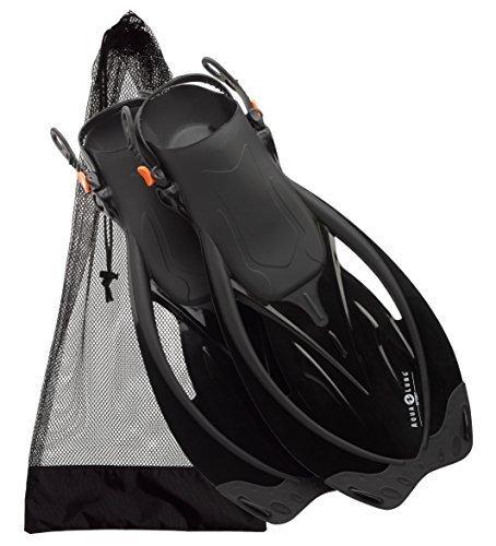 U.S. Divers Aqua Lung Wave Snorkeling Swim Fin, Black, Medium/X-Large