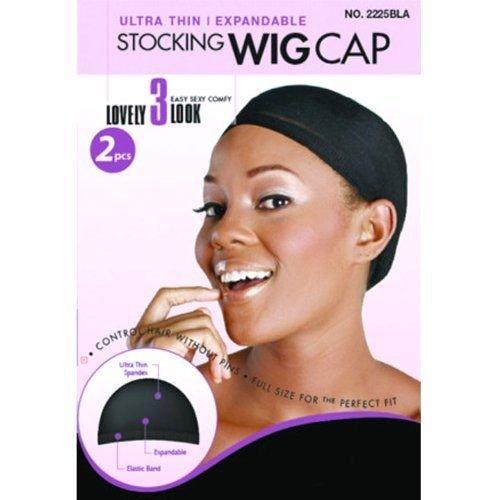 Cuffie parrucca ultrasottili (NERO 2 pezzi) Magic Collection 2225BLK