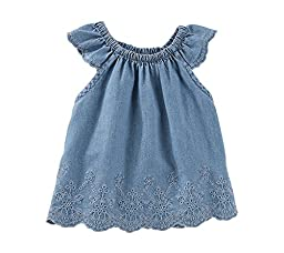 OshKosh B\'gosh Baby Girls Tops 12029711, Denim (463), 18M