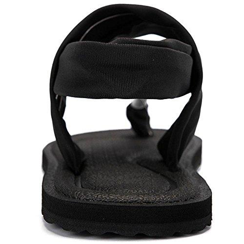 42cf5cd35ec5d1 PINGYE Yoga Sling 2 Flip Flop for Women YJS398-Black-36 available in ...