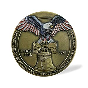United States Liberty Bell Navy Challenge Coin Don't Tread on Me Military Collection Gifts - Eagle Colorized by Southkingze
