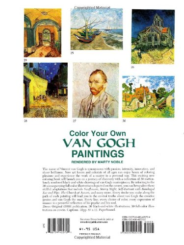 Color Your Own Van Gogh Paintings (Dover Art Coloring Book)