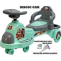 Goyal's Tuk Tuk Senior Free Wheel Musical Magic Car with Back Rest - (Sea-Green)