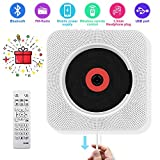 CD Player with Bluetooth - Portable CD Player Wall Mountable, Remote Control, FM