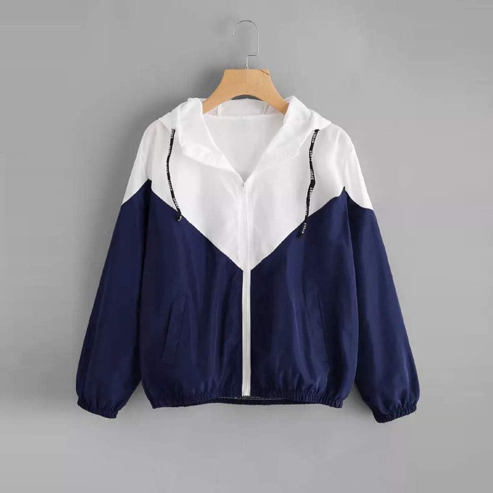 KYLEON Womens Windbreaker Waterproof Raincoat Packable Color Block Outdoor Hooded Lightweight Rain Jacket Muticolour