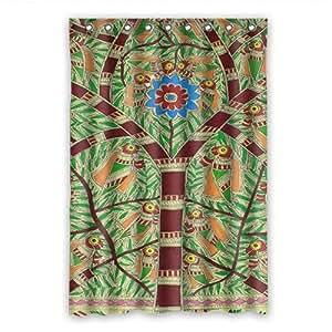 """dalliy Custom árbol de la vida pintura poliéster cortina de ducha 120cm x 183cm, poliéster, C, 48"""" x 72"""""""