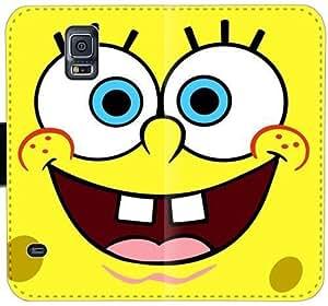 Bob Esponja D8I4Y Funda Samsung Galaxy Note caja de la carpeta de cuero Funda 4 7J18a0 único teléfono fundas caso del tirón