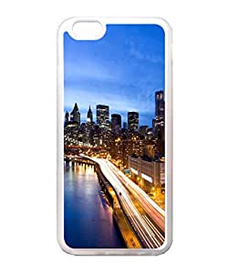 VUTTOO Iphone 6 Case, Manhattan At Night Back Case for Apple iPhone 6 4.7 Inch - TPU Transparent