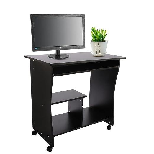 Mesa de trabajo ordenador con almacenamiento, escritorio mesa de ...