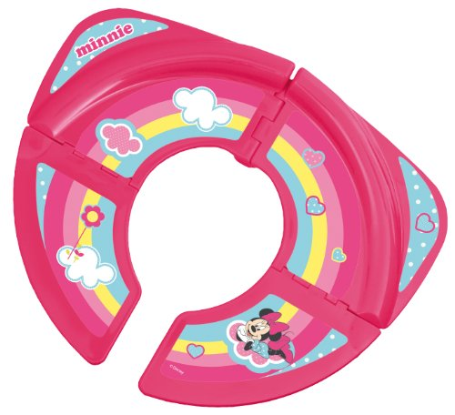 Solution Pink Hygienic Disney Minnie Mouse Foldable Toilet Trainer ()