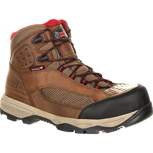 Rocky Endeavor Point Composite Toe Waterproof Work Boot Brown and Dark Brown from Rocky