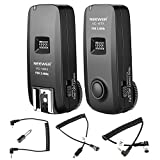 Neewer 3-in-1 16 Channels 2.4G Wireless Remote Flash Trigger with N1 and N3 Shutter Cables for Nikon DSLR Cameras Such as D7100, D7000,D800,D700,D600,D90,Speedlite Flash,VISION4 Studio Strobe (VC-16)