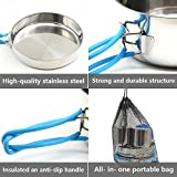 Camping Cookware, Stainless Steel Mess Kit Backpacking Gear...