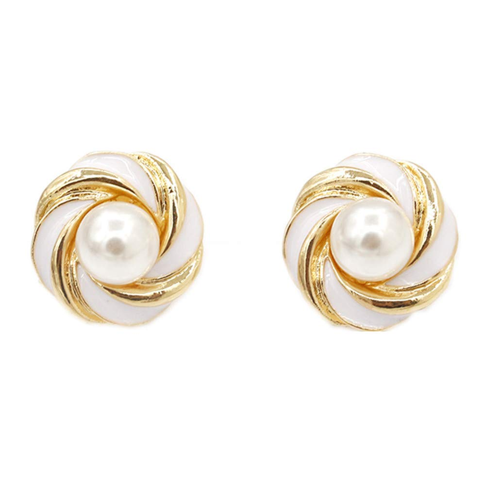 Mall of Style Rose Gold Spiral Long Earrings