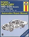 Ford & Mercury Midsize Sedans '75'86 (Haynes Repair Manuals)