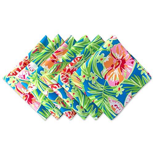 DII Outdoor Napkins (Set of 6), Summer Floral, 6 Piece