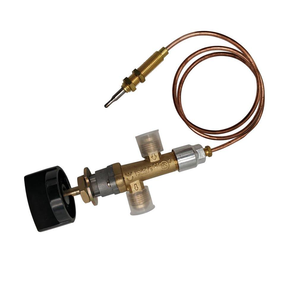 MeTer Star Propane Lpg - Válvula de control de fuego de gas con termopar y pomo: Amazon.es: Jardín