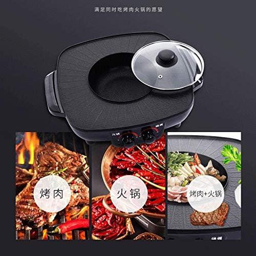 Indoor Korean Bbq Grill Smokeless, Antiadhésif ustensiles de cuisson, Pot 2-en-1 Super Cooker, usage intérieur et extérieur, et réutilisable Facile à nettoyer lili