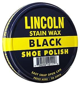 Lincoln Shoe Wax Polish 3 Fl Oz (Black)